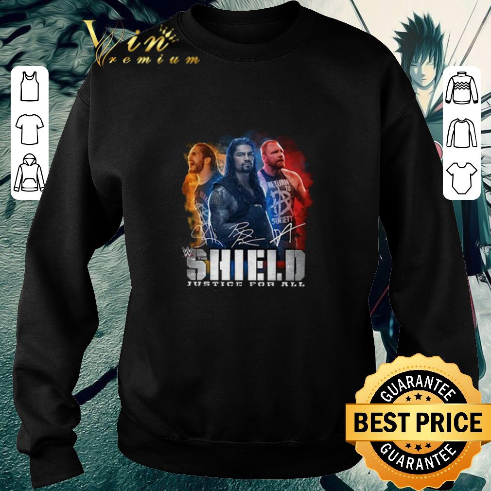 Original Seth Rollins Roman Reigns Dean Ambrose The Shield Justice For All shirt