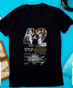 Pretty 42 Years of Star Wars 1977 2019 Signatures shirt 1 1 247x296 - Pretty 42 Years of Star Wars 1977 2019 Signatures shirt