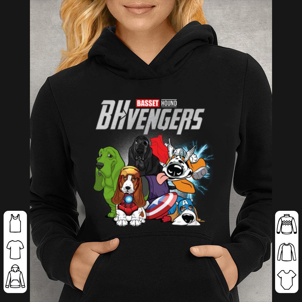 Pretty Basset Hound BHvengers Marvel Avengers Endgame shirt