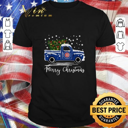 Pretty Chicago Cubs truck Merry Christmas shirt 1 1 510x510 - Pretty Chicago Cubs truck Merry Christmas shirt