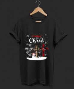 Pretty Christmas Begins With Christ Snowman With Christian Cross shirt 1 1 247x296 - Pretty Christmas Begins With Christ Snowman With Christian Cross shirt