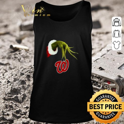 Pretty Christmas Grinch hand holding Washington Nationals shirt 2 1 510x510 - Pretty Christmas Grinch hand holding Washington Nationals shirt