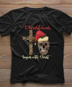 Pretty Skull leopard Christmas Begins with Christ shirt 1 1 247x296 - Pretty Skull leopard Christmas Begins with Christ shirt