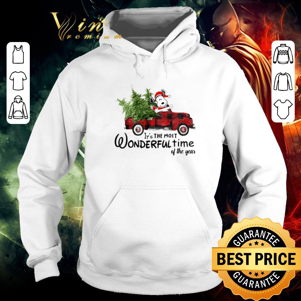 Pretty Snoopy Truck It's The Most Wonderful Time Of The Year Christmas shirt