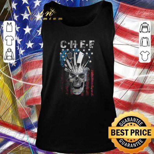 Top Chef skull american flag veteran shirt 2 1 510x510 - Top Chef skull american flag veteran shirt