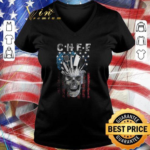 Top Chef skull american flag veteran shirt 3 1 510x510 - Top Chef skull american flag veteran shirt