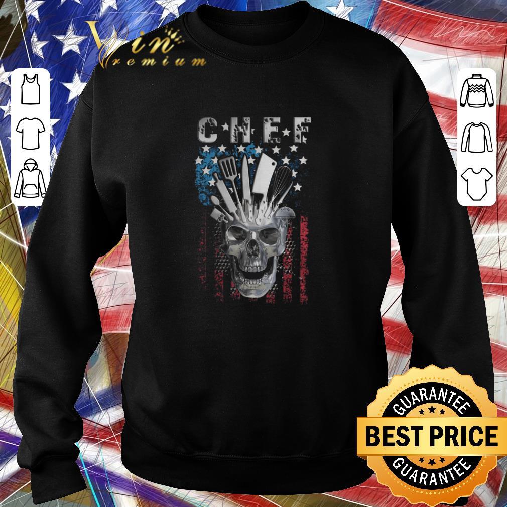 Top Chef skull american flag veteran shirt