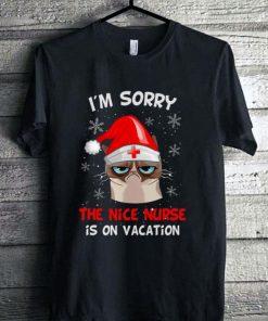 Top Grumpy Cat I m sorry the nice nurse is on vacation shirt 1 1 247x296 - Top Grumpy Cat I'm sorry the nice nurse is on vacation shirt