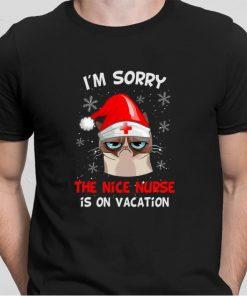 Top Grumpy Cat I m sorry the nice nurse is on vacation shirt 2 1 247x296 - Top Grumpy Cat I'm sorry the nice nurse is on vacation shirt