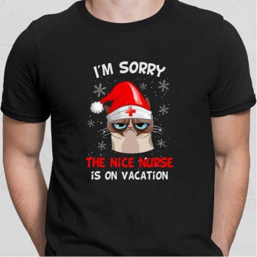 Top Grumpy Cat I m sorry the nice nurse is on vacation shirt 2 1 510x510 - Top Grumpy Cat I'm sorry the nice nurse is on vacation shirt