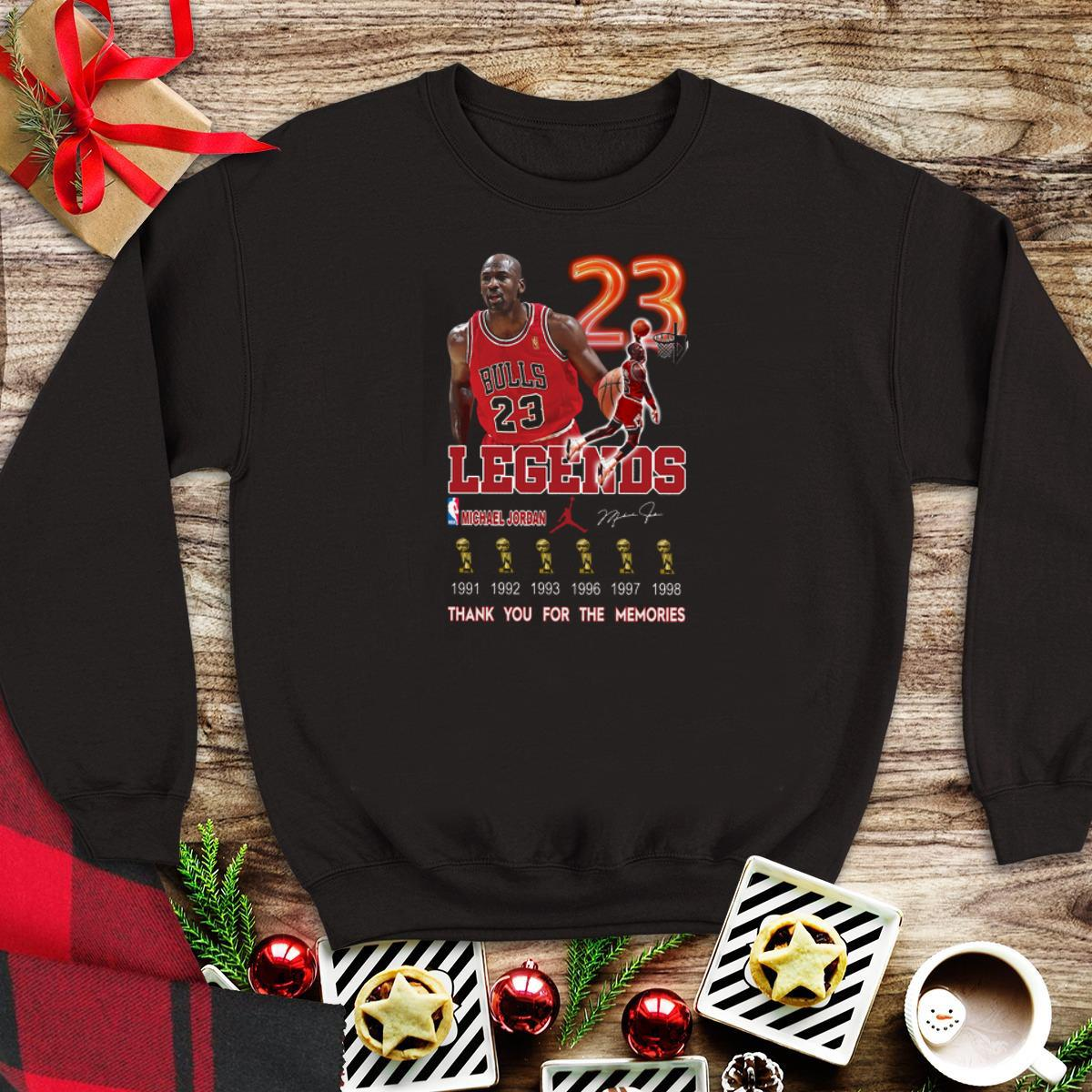 Awesome Legend Michael Jordan thank you for the memories Signature sweater