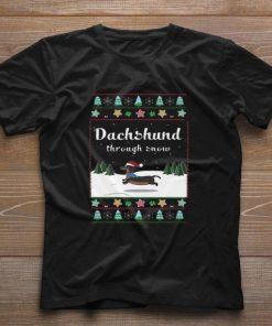 Funny Dachshund through snow ugly Christmas shirt 1 1 247x296 - Funny Dachshund through snow ugly Christmas shirt