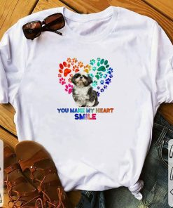 Funny Paws color Shih Tzu you make my heart smile shirt 1 1 247x296 - Funny Paws color Shih Tzu you make my heart smile shirt