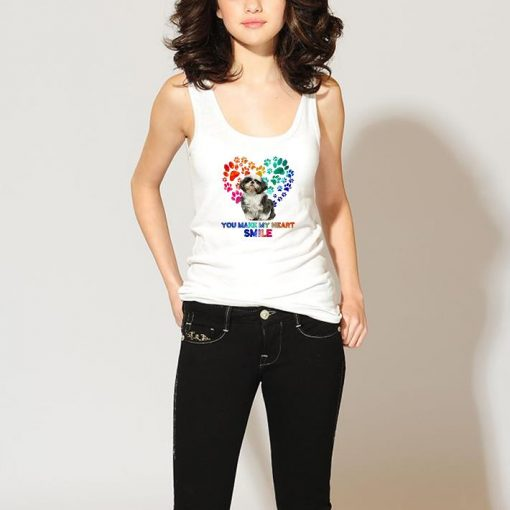 Funny Paws color Shih Tzu you make my heart smile shirt 3 1 510x510 - Funny Paws color Shih Tzu you make my heart smile shirt