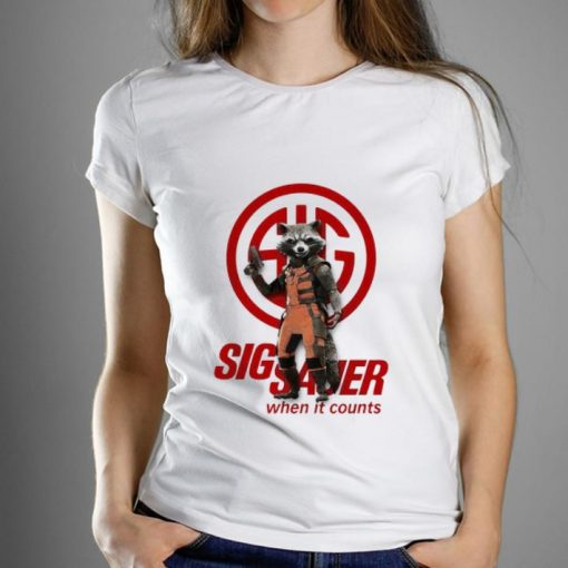 Great Rocket Raccoon Marvel Sig Sauer When It Counts shirt 1 1 510x510 - Great Rocket Raccoon Marvel Sig Sauer When It Counts shirt