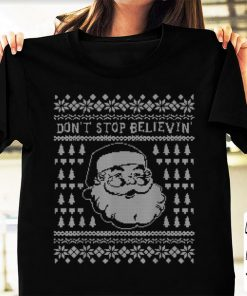 Hot Don t Stop Believing Smiling Santa Ugly Sweater Style Winter sweater 1 1 1 247x296 - Hot Don't Stop Believing Smiling Santa Ugly Sweater Style Winter sweater