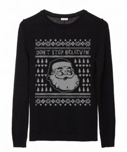 Hot Don t Stop Believing Smiling Santa Ugly Sweater Style Winter sweater 2 1 1 247x296 - Hot Don't Stop Believing Smiling Santa Ugly Sweater Style Winter sweater