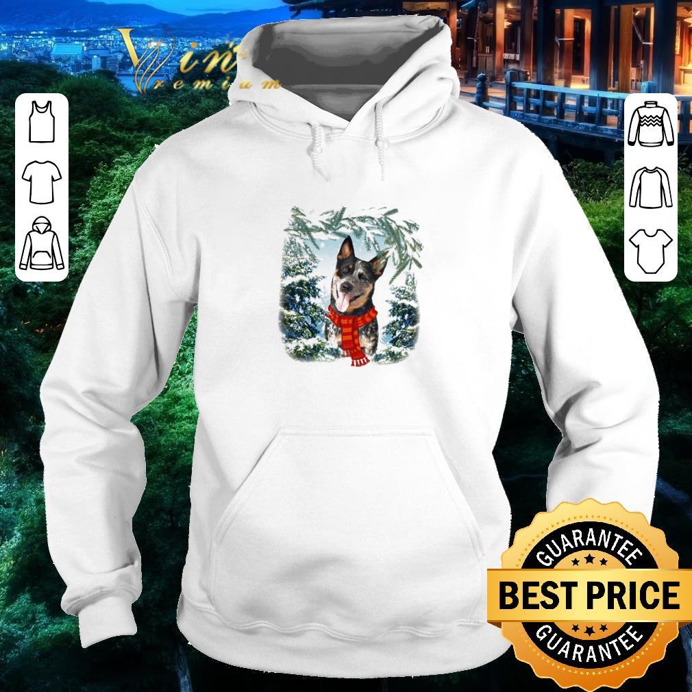 Hot Heeler Australian Cattle in snow forest Christmas shirt