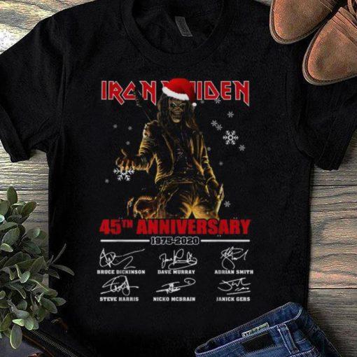 Hot Iron Maiden Santa 45th anniversary 1975 2020 signatures shirt 1 1 510x510 - Hot Iron Maiden Santa 45th anniversary 1975 2020 signatures shirt