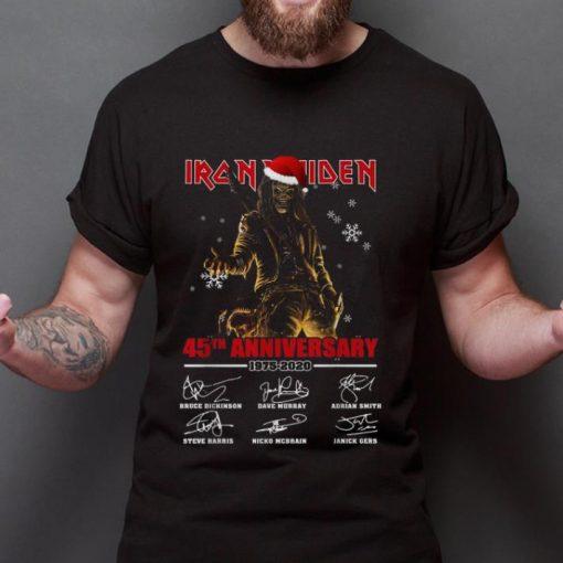 Hot Iron Maiden Santa 45th anniversary 1975 2020 signatures shirt 2 1 510x510 - Hot Iron Maiden Santa 45th anniversary 1975 2020 signatures shirt