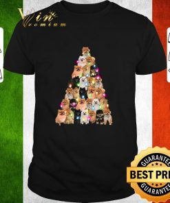 Official Pomeranian dogs lights Christmas tree shirt 1 1 247x296 - Official Pomeranian dogs lights Christmas tree shirt