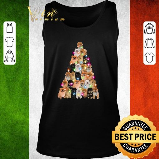 Official Pomeranian dogs lights Christmas tree shirt 2 1 510x510 - Official Pomeranian dogs lights Christmas tree shirt