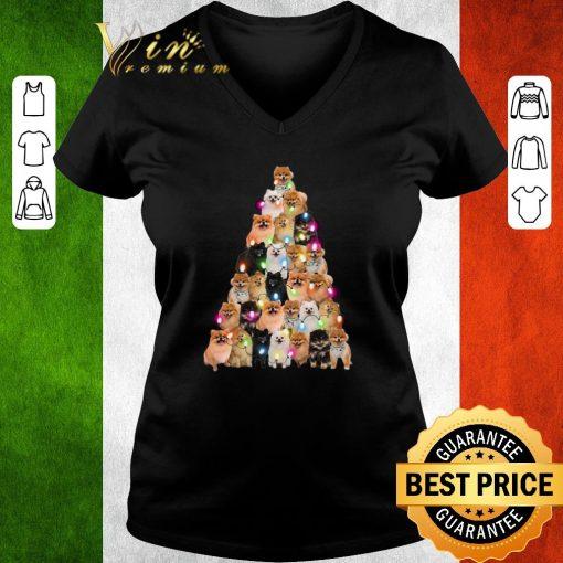 Official Pomeranian dogs lights Christmas tree shirt 3 1 510x510 - Official Pomeranian dogs lights Christmas tree shirt