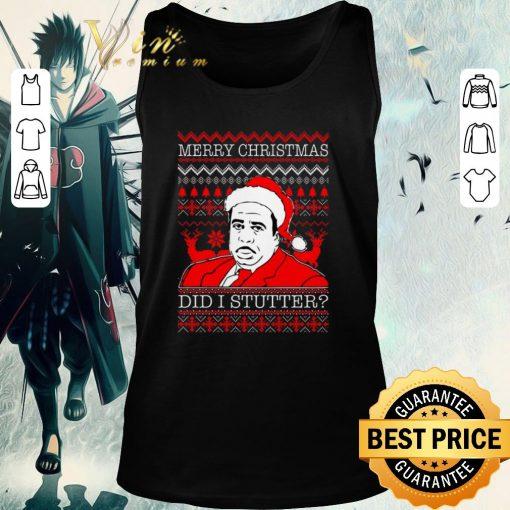 Official Stanley Hudson Did I Stutter ugly Christmas shirt 2 1 510x510 - Official Stanley Hudson Did I Stutter ugly Christmas shirt