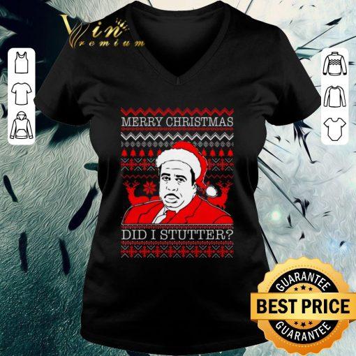 Official Stanley Hudson Did I Stutter ugly Christmas shirt 3 1 510x510 - Official Stanley Hudson Did I Stutter ugly Christmas shirt