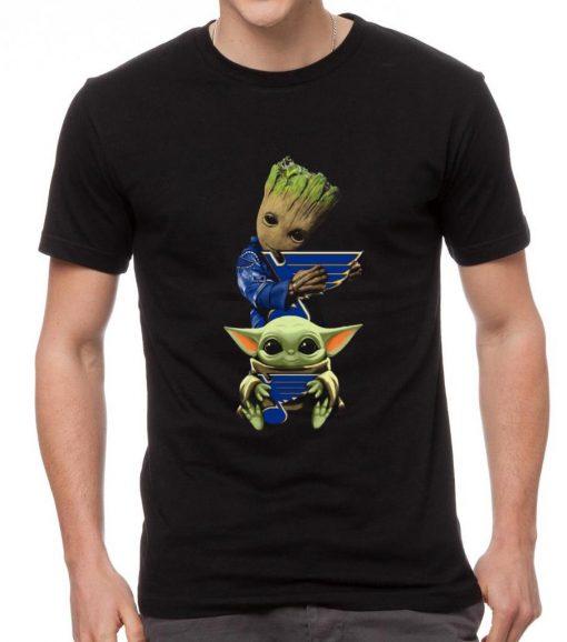 Nice Baby Yoda and Baby Groot hug St Louis Blues shirt 2 1 510x578 - Nice Baby Yoda and Baby Groot hug St. Louis Blues shirt