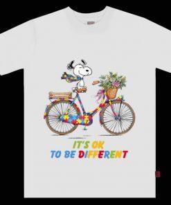 Nice Snoopy Riding Bike It s Ok To Be Different Autism shirt 1 1 247x296 - Nice Snoopy Riding Bike It's Ok To Be Different Autism shirt