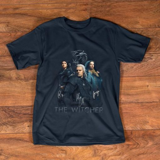 Official The Witcher Wild Hunt characters signatures shirt 1 1 510x510 - Official The Witcher Wild Hunt characters signatures shirt