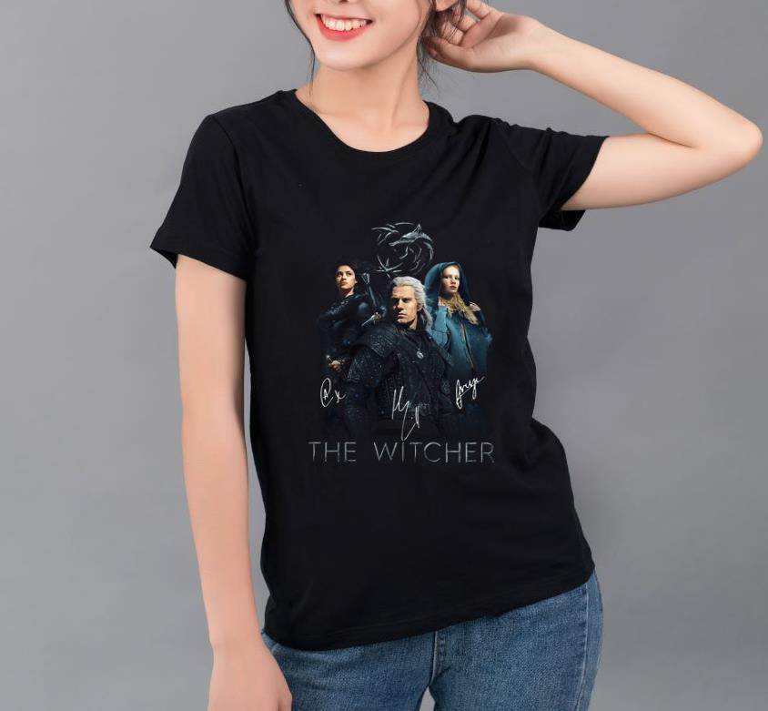 Official The Witcher Wild Hunt characters signatures shirt