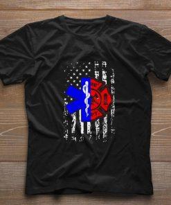 Pretty Nurse EMT and Firefighter American Flag shirt 1 1 247x296 - Pretty Nurse EMT and Firefighter American Flag shirt