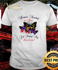 Awesome Butterfly heaven needed a hero god picked my husband shirt 1 1 247x296 - Awesome Butterfly heaven needed a hero god picked my husband shirt