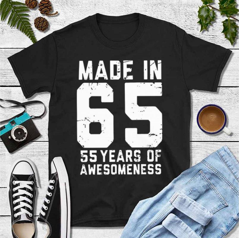 Awesome Made in 65 55 years of awesomeness shirt