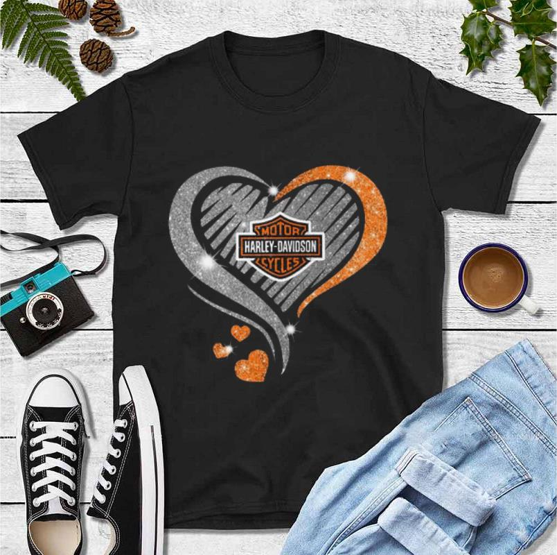 Hot Heart Diamond Motor Harley Davidson Cycles shirt