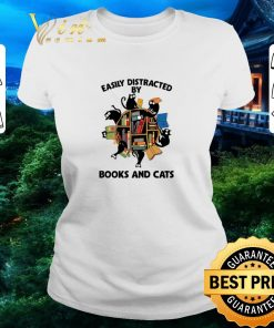 Premium Librarian easily distracted by books and cats black shirt 2 1 247x296 - Premium Librarian easily distracted by books and cats black shirt
