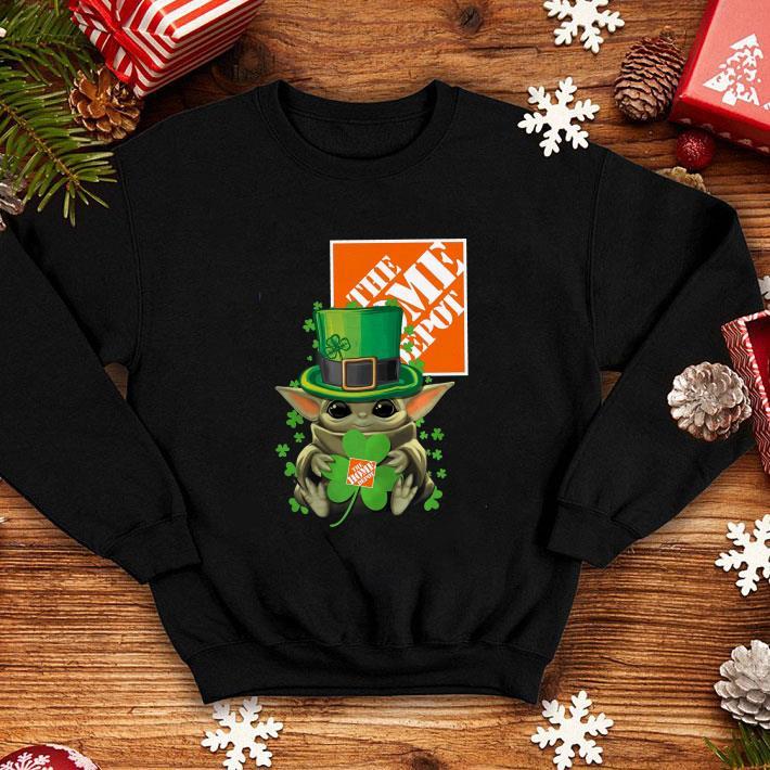 Top Baby Yoda The Home Depot Shamrock St. Patrick's Day Star Wars shirt