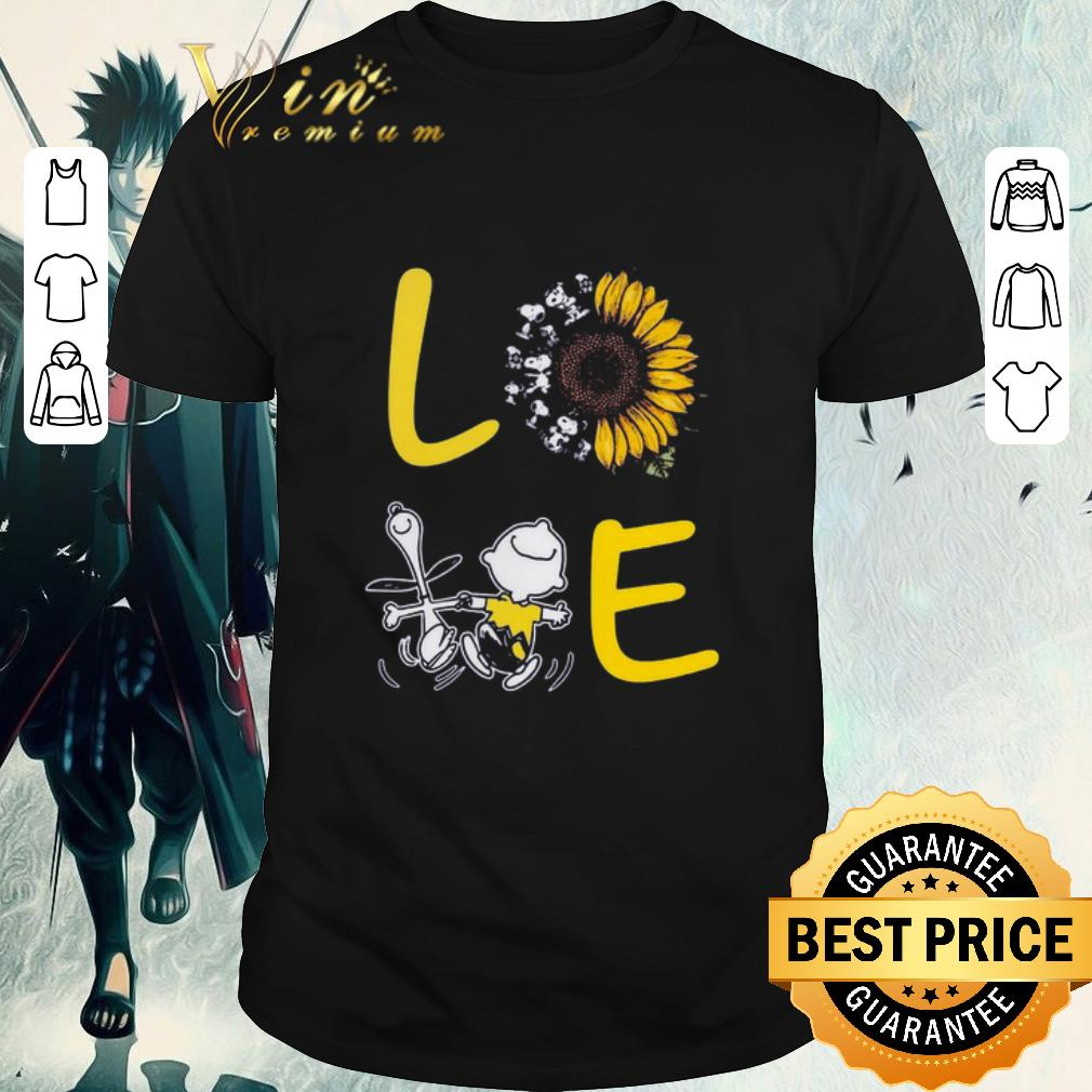 Awesome Love Sunflower Snoopy And Charlie Brown shirt 1 1 - Awesome Love Sunflower Snoopy And Charlie Brown shirt