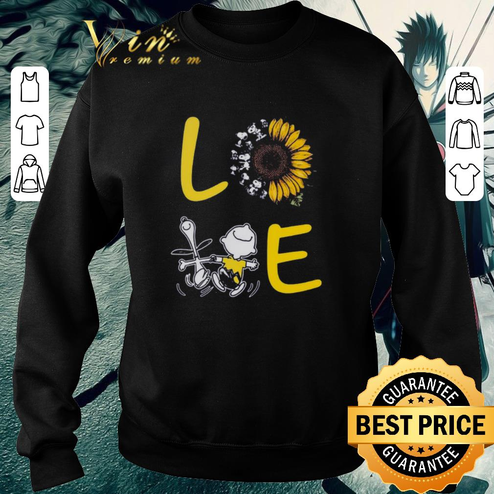 Awesome Love Sunflower Snoopy And Charlie Brown shirt