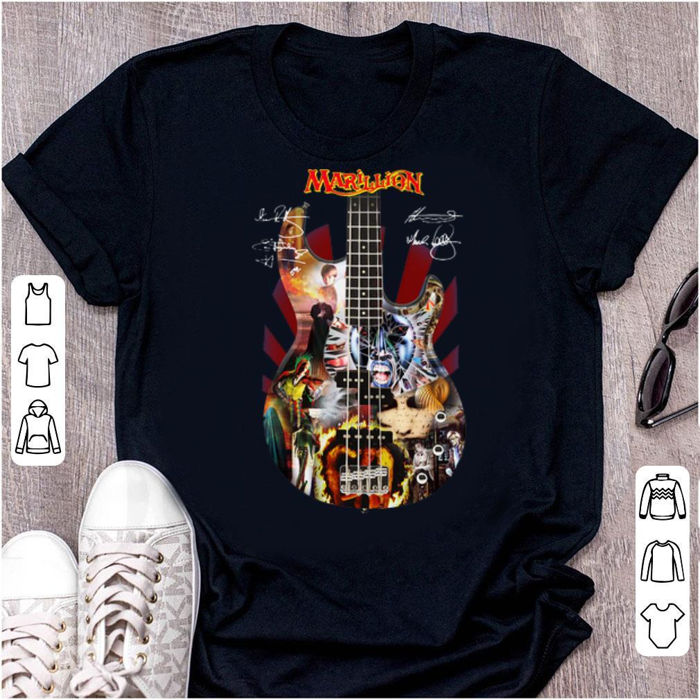 Awesome Marillion Guitar Signatures shirt 1 1 - Awesome Marillion Guitar Signatures shirt