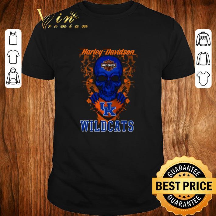 Awesome Skull mashup Harley Davidson and Kentucky Wildcats shirt 1 1 - Awesome Skull mashup Harley Davidson and Kentucky Wildcats shirt