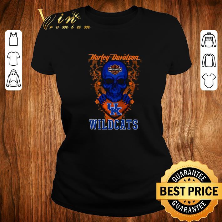 Awesome Skull mashup Harley Davidson and Kentucky Wildcats shirt 2 1 - Awesome Skull mashup Harley Davidson and Kentucky Wildcats shirt