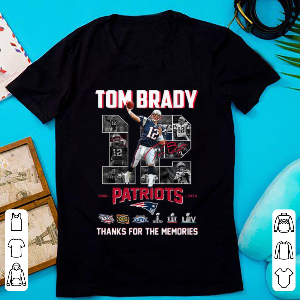 Awesome Tom Brady Patriots 2000 2020 Thank You For The Memories shirt 1 1 - Awesome Tom Brady Patriots 2000-2020 Thank You For The Memories shirt