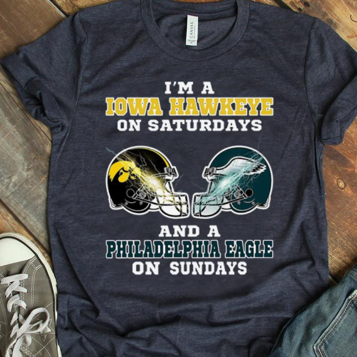 Hot I m A Iowa Hawkeye On Saturdays And A Philadelphia Eagle On Sundays shirt 1 1 - Hot Dragon Ball Vegeta I Hold A Beast An Angel And A Psycho In Me shirt