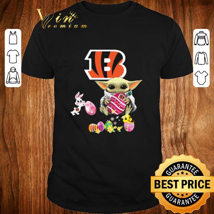 Original Baby Yoda Hug Cincinnati Bengals eggs Fertility at Easter shirt 1 1 - Original Baby Yoda Hug Cincinnati Bengals eggs Fertility at Easter shirt
