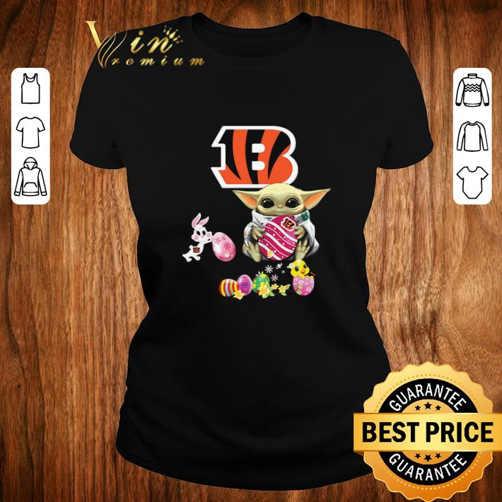 Original Baby Yoda Hug Cincinnati Bengals eggs Fertility at Easter shirt 2 1 - Original Baby Yoda Hug Cincinnati Bengals eggs Fertility at Easter shirt