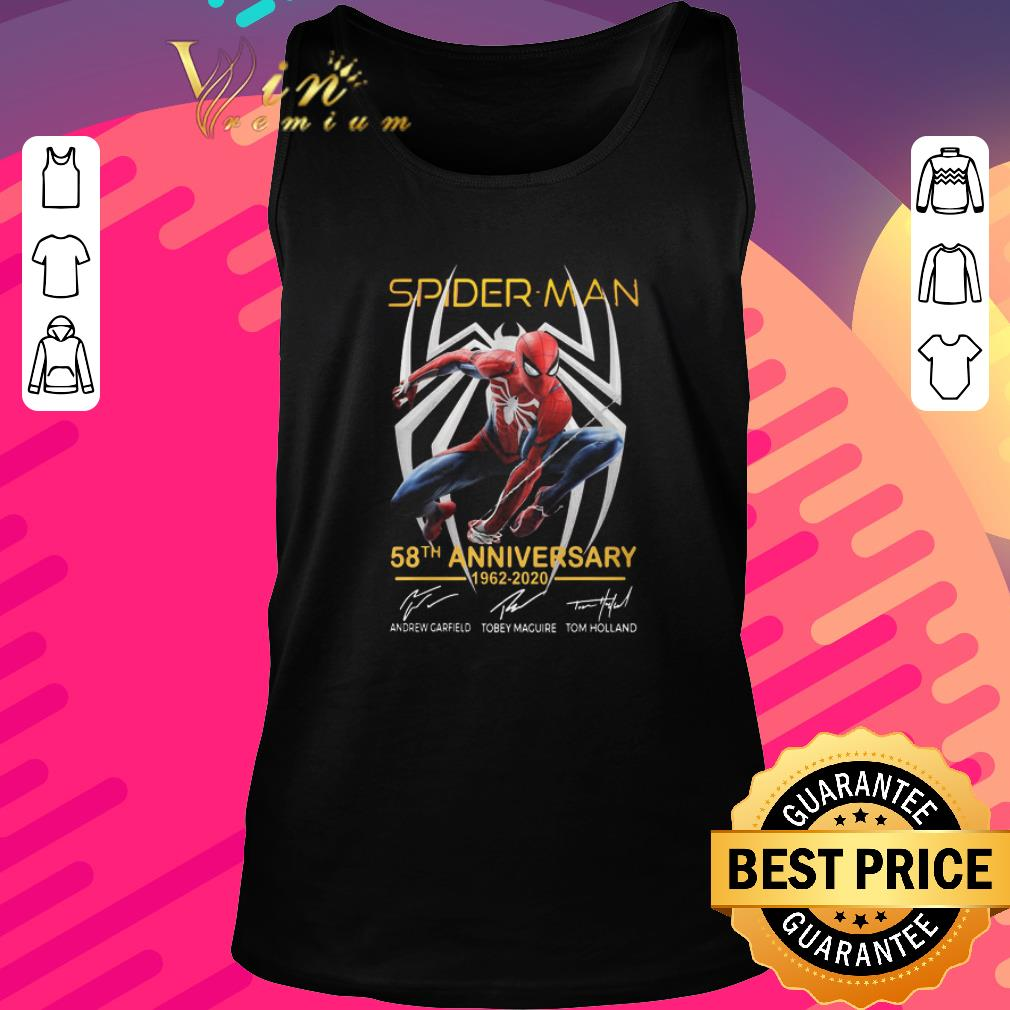 Original Spider Man 58th Anniversary 1962 2020 Signatures shirt 2 1 - Original Spider Man 58th Anniversary 1962 2020 Signatures shirt