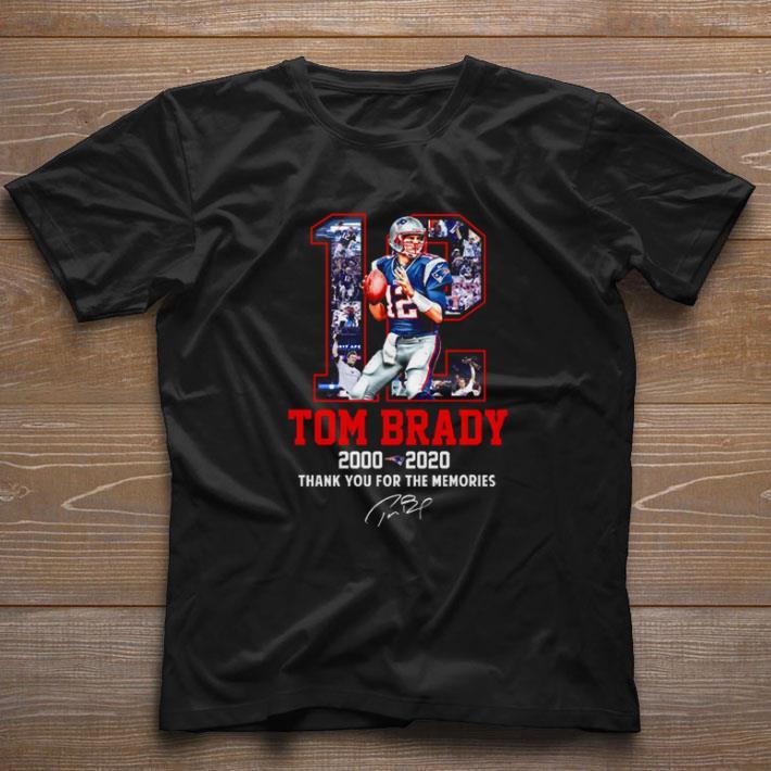 Premium 12 Tom Brady Patriots 2000 2020 thank you for the memories shirt 1 1 - Premium 12 Tom Brady Patriots 2000-2020 thank you for the memories shirt